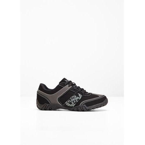 Buty sznurowane czarny marki Bonprix