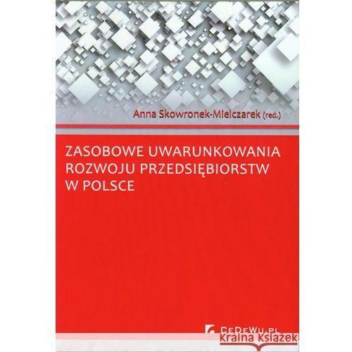 Zasobowe uwarunkowania rozwoju przedsiębiorstw w Polsce (9788375566000)