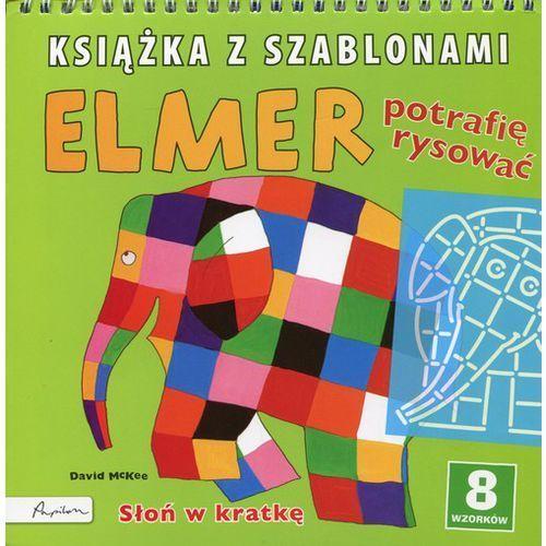 Elmer Książka z szablonami Potrafię rysować, David McKee