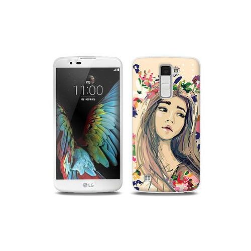 LG K10 - etui na telefon Full Body Slim Fantastic - kolorowy wianek, ETLG287FBSFFC118000