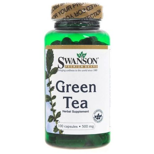 green tea (zielona herbata) 500 mg - 100 kapsułek marki Swanson