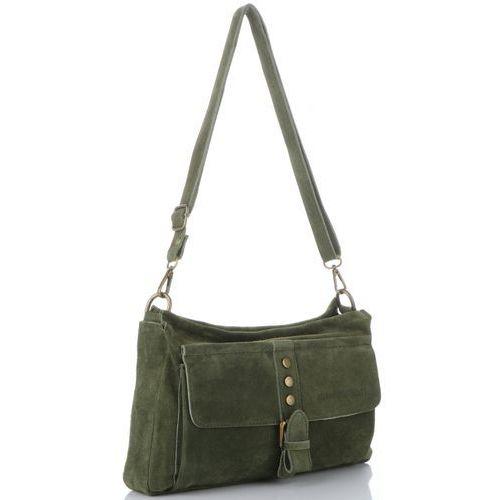 7e8b5c1f66b1c włoskie torebki skórzane listonoszki na każdą okazję w całości wykonane z  wysokiej jakości zamszu naturalnego zielone (kolory) marki Vittoria gotti  139,00 ...