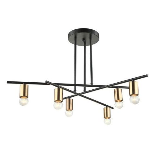 Lampa wisząca Normani 6 x 40 W E27 czarna