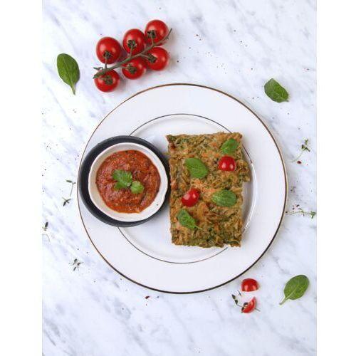 Szpinakowa zapiekanka z makaronem razowym w musie pomidorowym i ciecierzycą / niepasteryzowane marki Sportfood