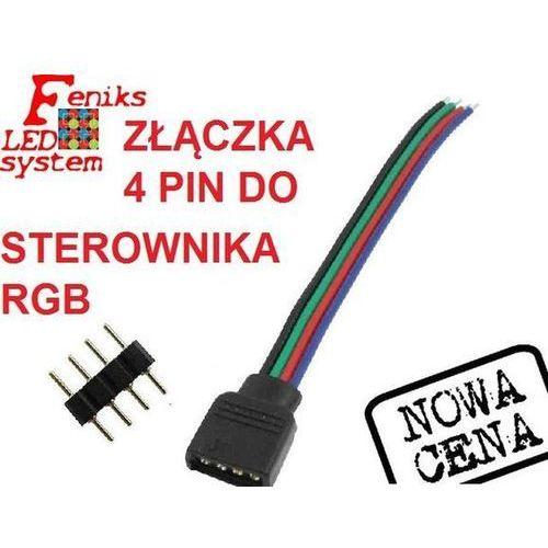 Złączka do taśmy LED 10mm 4 PIN do sterownika, z przewodem, FLS00160