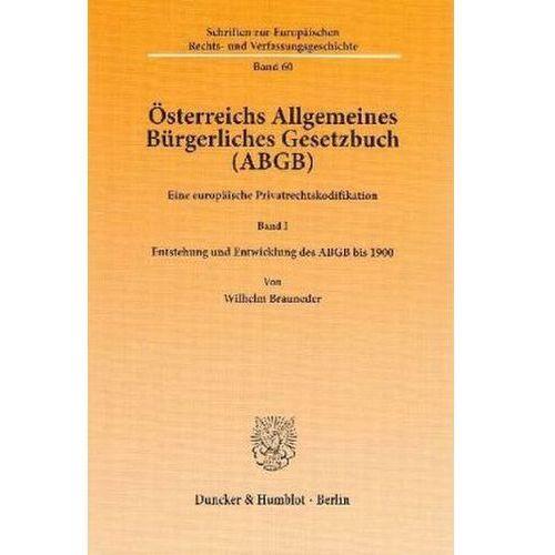 Österreichs Allgemeines Bürgerliches Gesetzbuch (ABGB). Bd.1