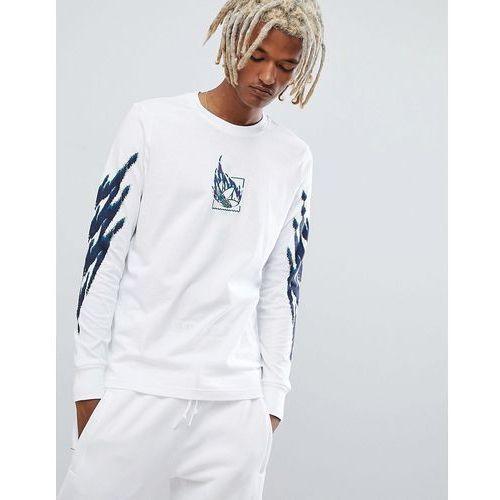 adidas Skateboarding Tennis Long Sleeve T-Shirt In White DH3916 - White, kolor biały