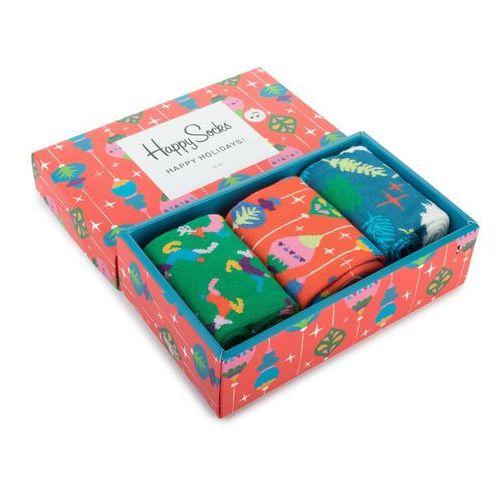 Happy socks Zestaw 3 par wysokich skarpet unisex - xmas08-4003 kolorowy