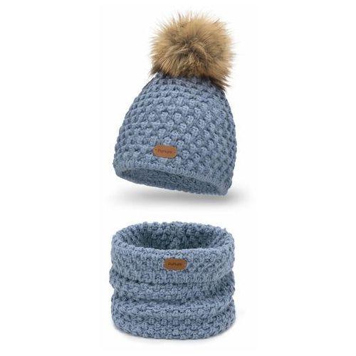 Komplet PaMaMi, czapka i komin - Jeansowy (5902934088565)