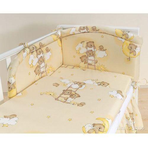 MAMO-TATO pościel 3-el Drabinki z misiami na kremowym tle do łóżeczka 60x120cm (komplet pościeli dla dziecka) od MAMO-TATO