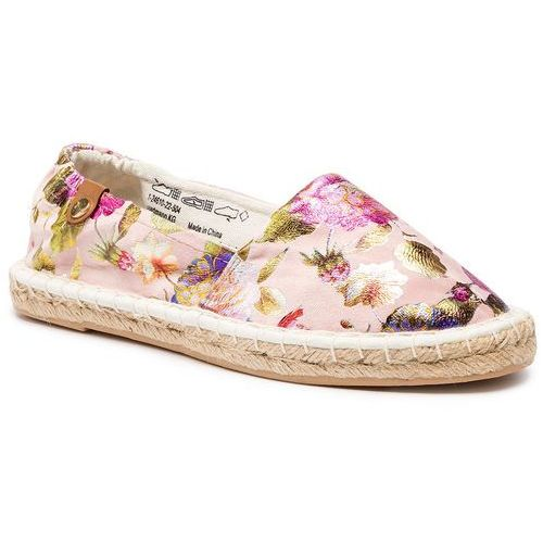 Espadryle TAMARIS - 1-24610-22 Rose Flower C. 504, kolor różowy