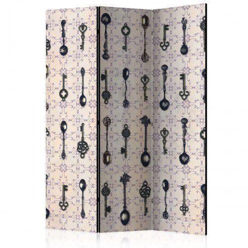 Parawan 3-częściowy - Styl retro: Srebrne łyżki [Room Dividers], A0-PARAVENT1031 (7810251)