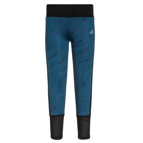 adidas Performance Legginsy black/unity blue/matte silver - produkt z kategorii- legginsy dla dzieci