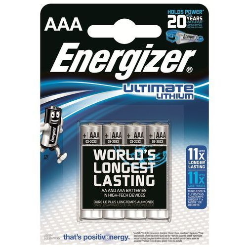 4 x bateria foto litowa Energizer L92 Ultimate Lithium R03 AAA (7638900273267)
