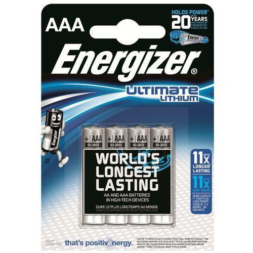 4 x bateria foto litowa Energizer L92 Ultimate Lithium R03 AAA (7638900273267)