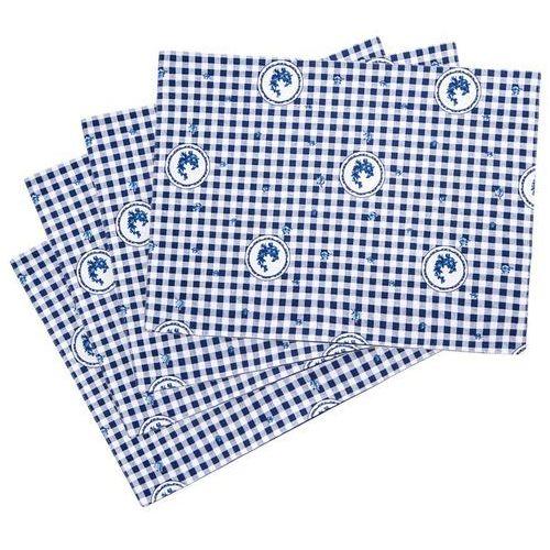 Trade concept podkładka country kratka niebieski, 33 x 45 cm, 4 szt. marki 4home