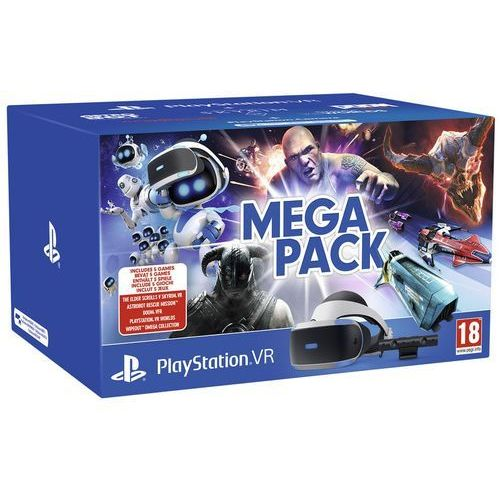 Gogle Wirtualnej Rzeczywistości SONY PlayStation VR + PlayStation Camera V2 + The Elder Scrolls V Skyrim VR + Astrobot Rescue Mission + Doom VR + VR Worlds + Wipeout Omega Collection (0711719786313)