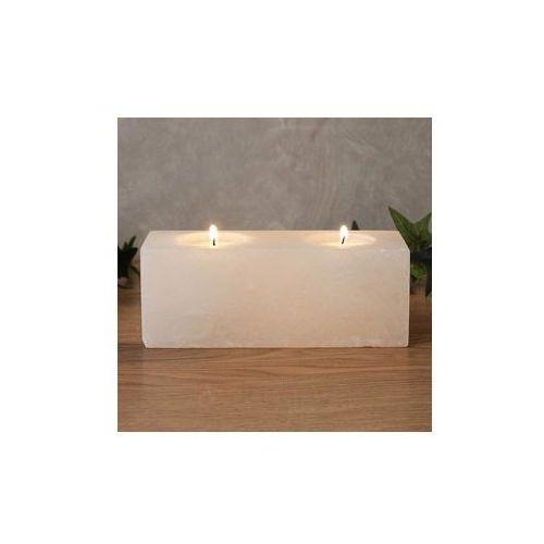 TWIN CUBE WHITE LINE świecznik na podgrzewacze (świecznik)