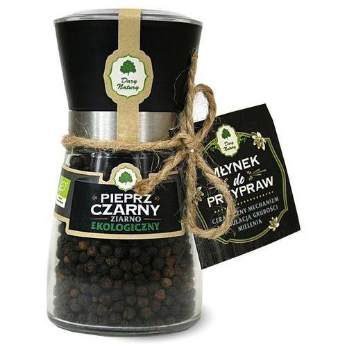 Dary natury - przyprawy i zioła bio Pieprz czarny ziarno w młynku bio 90 g dary natury