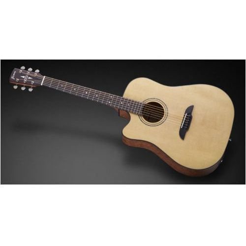 Framus fd 14 sv - vintage transparent satin natural tinted + eq (left-handed) gitara elektroakustyczna