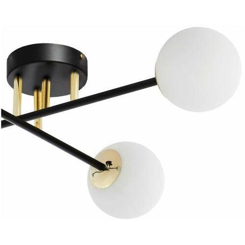 Kaspa Loftowa lampa sufitowa astra 10775402 modernistyczna oprawa szklane kule balls czarne białe (5902047305382)