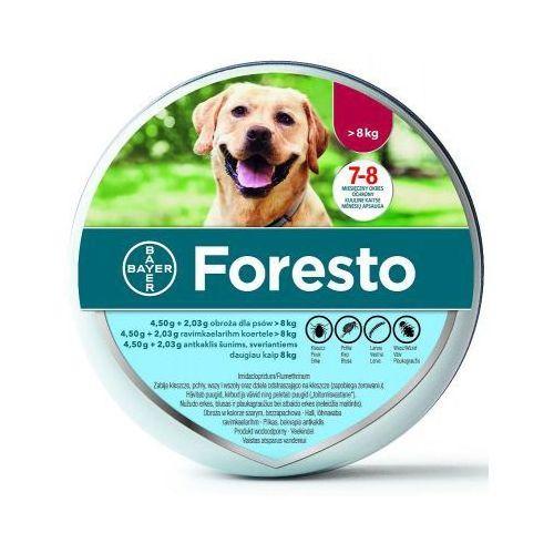 Bayer Foresto - dł 70 cm - obroża przeciwko pchłom i kleszczom dla psów o masie ciała > 8 kg