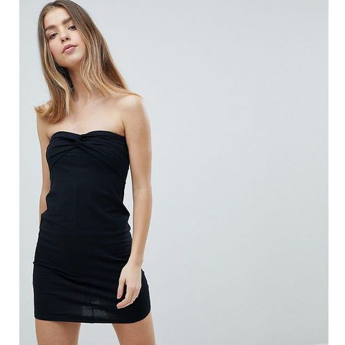 ASOS PETITE Mini Twist Front Bandeau Dress - Black