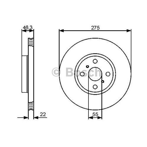 Bosch tarcza hamulcowa; przednia, 0 986 479 431