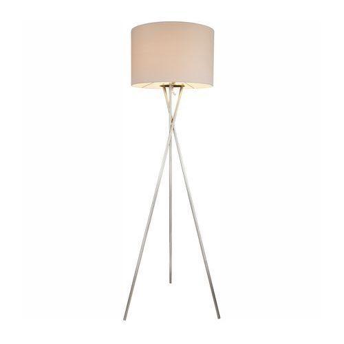 Lampa podłogowa Globo Gustav 1x60W E27 biały/nikiel 24685N, 24685N