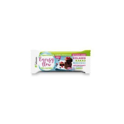 Baton orzechowo - owocowy z kakao, orzechami nerkowca i kolagenem energy flow 30 g marki Intenson