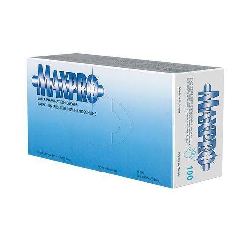 Maxpro Rękawiczki lateksowe białe S