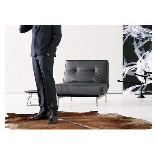 Fotel Splitback czarny 582 nogi chromowane  741011582-741011-0-2, marki INNOVATION iStyle do zakupu w sfmeble.pl