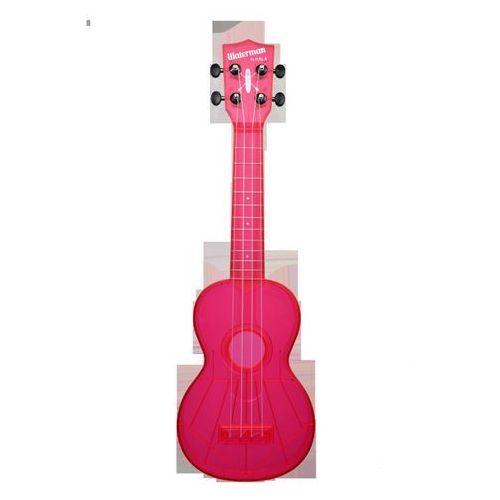 ka-swf-pk waterman, ukulele sopranowe z pokrowcem, fluorescencyjny różowy marki Kala