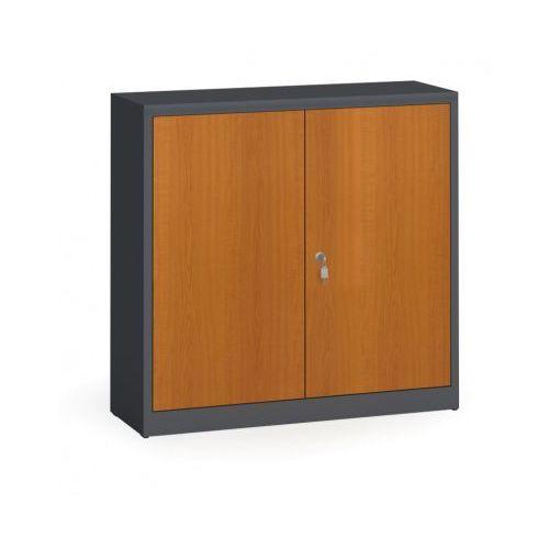 Szafy spawane z laminowanymi drzwiami, 1150 x 1200 x 400 mm, ral 7016/czereśnia marki Alfa 3