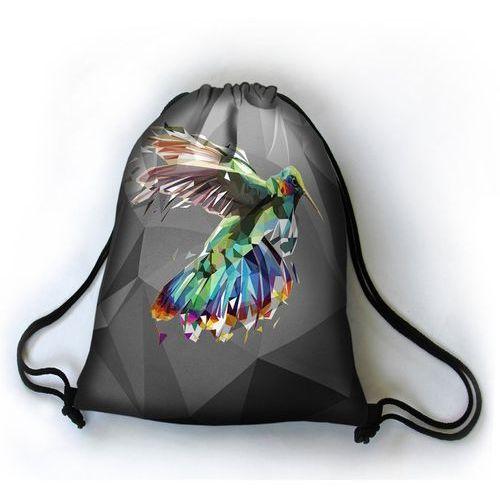 Bertoni Designerski plecak worek koliber - czarny ||szary ||wielokolorowy ||wielobarwny