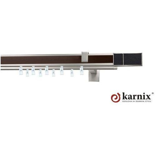 Karnisz apartamentowy AVENO podwójny 31x13/31x13mm Croco Black Chrom mat - wenge - oferta [35444e7fc78594cb]