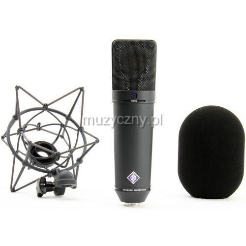 Neumann u87 ai studio set mikrofon wielkomembranowy + uchwyt ea87 + drewniane opakowanie, kolor czarny