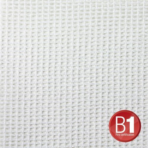 Adam hall 0157 x 36 w - gaza typu 202, 3 x 6 m, z oczkami, biała