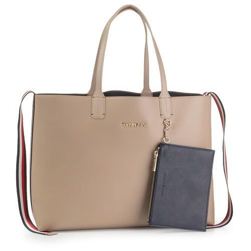 Tommy hilfiger Torebka - iconic tommy tote solid aw0aw07325 pc5