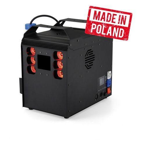 Flash pro machine fog / geizer 1500w 6x10w rgbw, dmx, pilot - wytwornica dymu