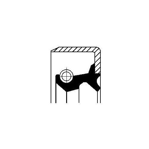 Pierścień uszczelniający wału, piasta koła CORTECO 19016499B