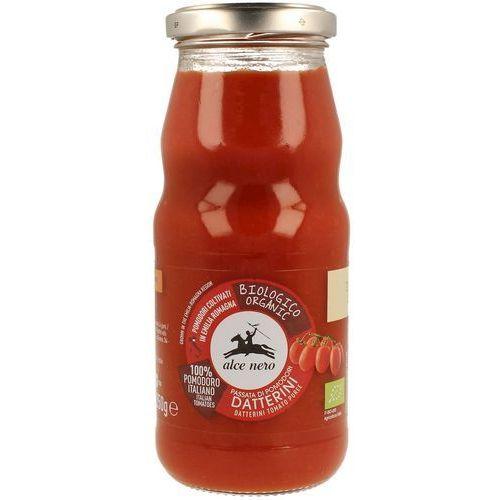 Alce nero (włoskie produkty) Sos pomidorowy passata (z pomidorów daktylowych) bio 350 g - alce nero (8009004809154)