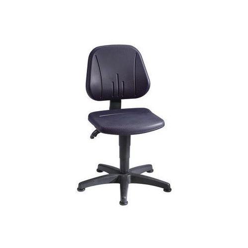 Obrotowe krzesło do pracy z regulacją wysokości sprężyną gazową,pianka pu, czarna marki Bimos