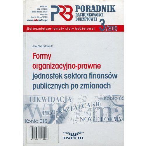 Formy organizacyjno-prawne jednostek sektora finansów publicznych po zmianach, Infor
