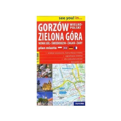 Gorzów Wielkopolski Zielona Góra plan miasta1:15 000