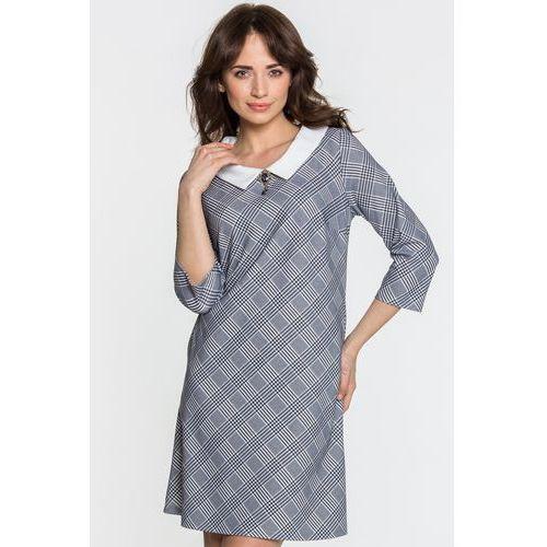 9fa071a411 Margo collection Sukienka w kratkę księcia walii - 295