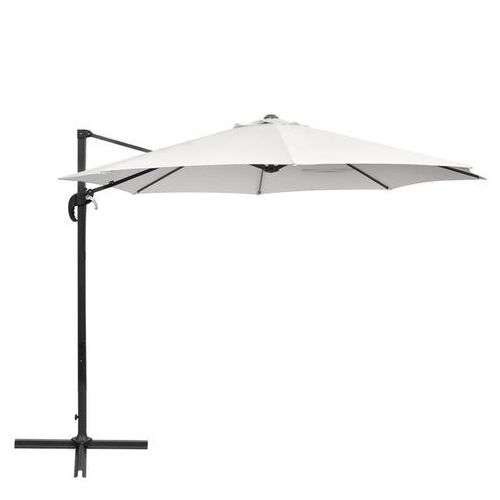 parasol ogrodowy z aluminiowym wspornikiem biały piasek 3 m okrągły od producenta Vidaxl