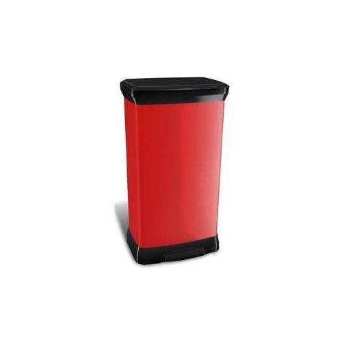 Kosz na śmieci Curver Decobin 02162-931 Czarny/Czerwony - produkt dostępny w EUKASA.pl