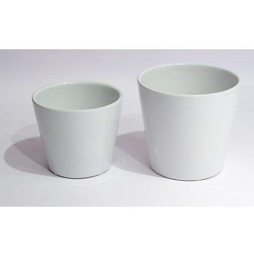 Doniczki-osłonki białe 2szt - oferta [158469230555c52d]