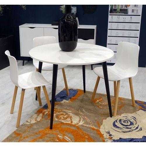 Okrągły stół Oslo 100x100 biało-czarny
